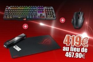 Pack Clavier Claymore + Souris Spatha + Tapis de souris Sheath