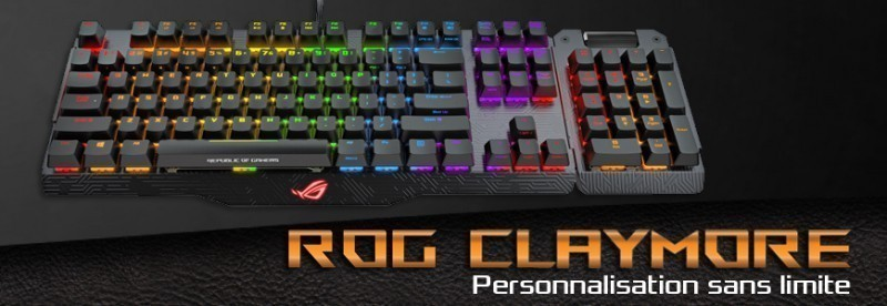 Clavier Asus ROG Claymore