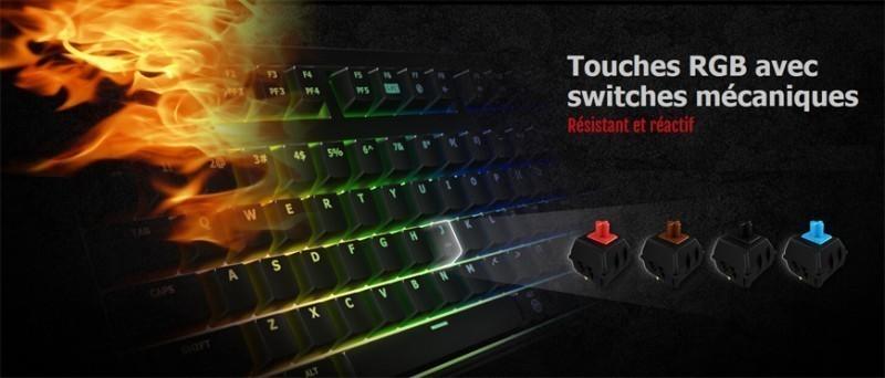 Touches RGB avec switches mécaniques